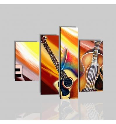 VIVA LA MUSICA - Quadri moderni con chitarra