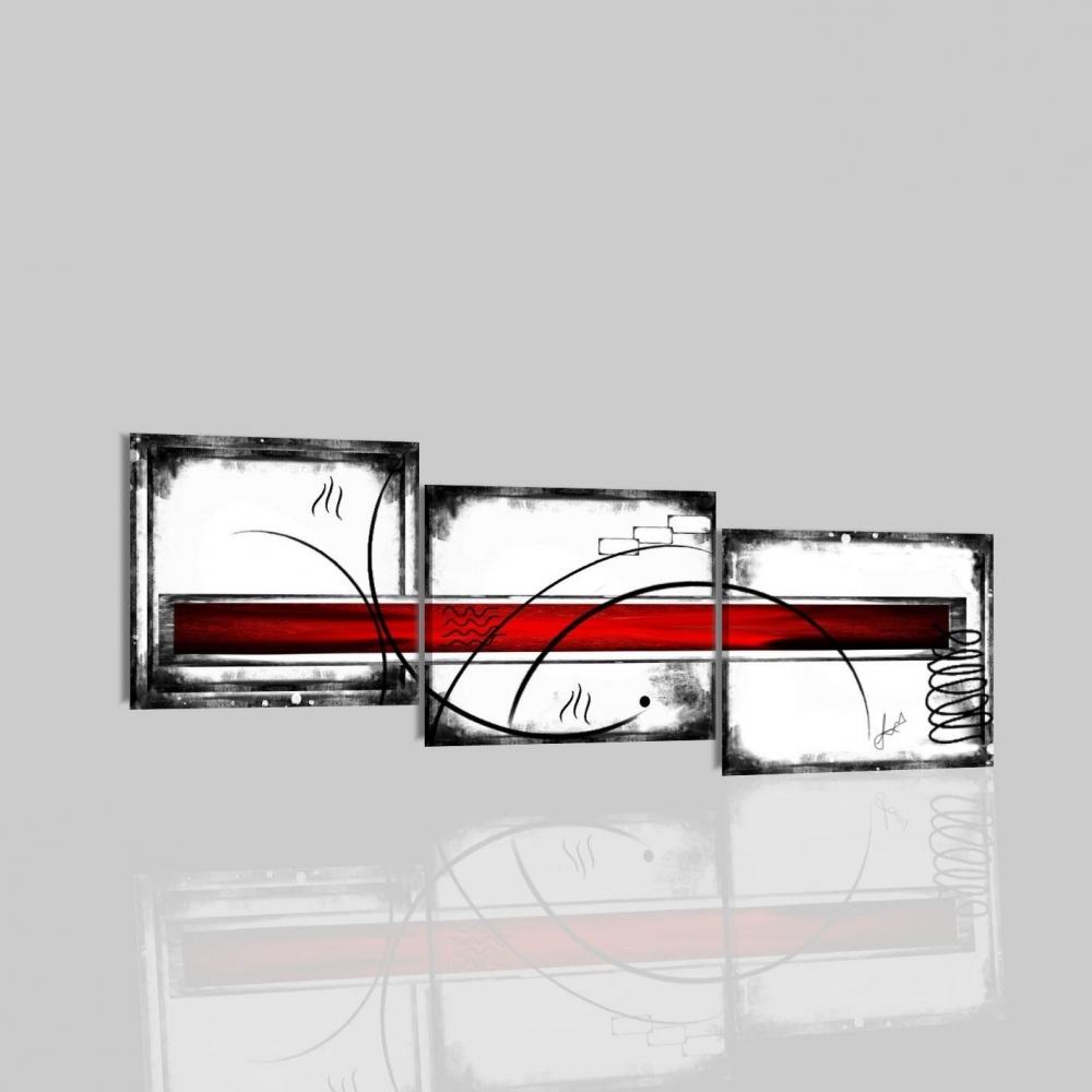 Quadri moderni trittici mudra for Quadri in bianco e nero moderni