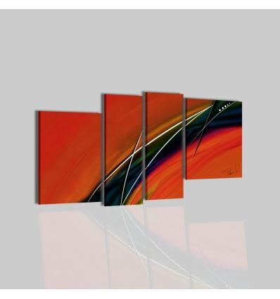 FAYE - Quadri moderni arancione
