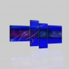 SANTA CRUZ - Dipinti a mano astratti colore blu