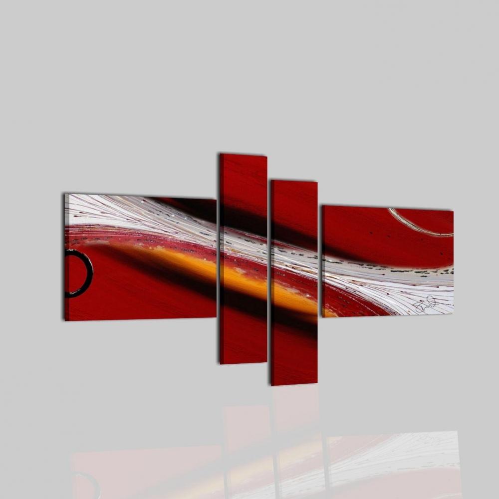 Quadri astratti moderni a 4 moduli dubai for Quadri astratti moderni verticali