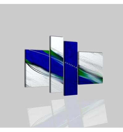 NIRAL - Dipinti a mano astratti colore blu