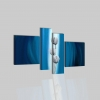 SIGRID - Quadro moderno blu con fiore