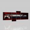 OLINDA - Quadro astratti rosso nero