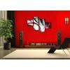 SARPA - Cuadros modernos rojo y negro