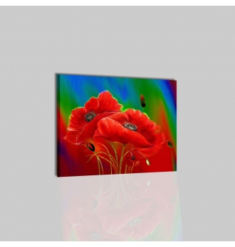 ANAS - Quadro con fiori rosso