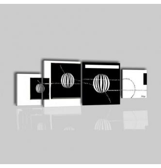 CUBA - Cuadros modernos abstractos blanco y negro