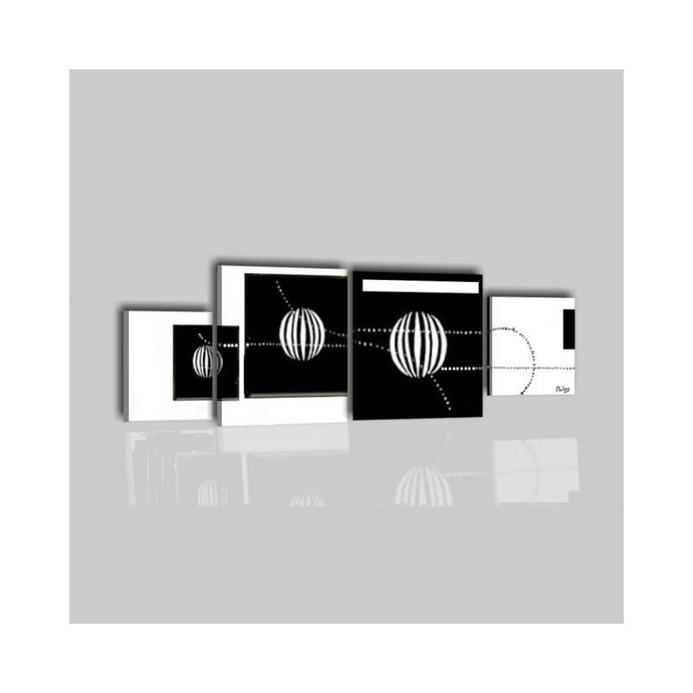 Quadri astratti in bianco e nero per salone o la camera da letto - Cuba