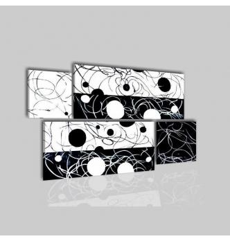 REBY - Quadri moderni astratti bianco e nero