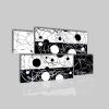 REBY - Cuadros modernos blanco y negro