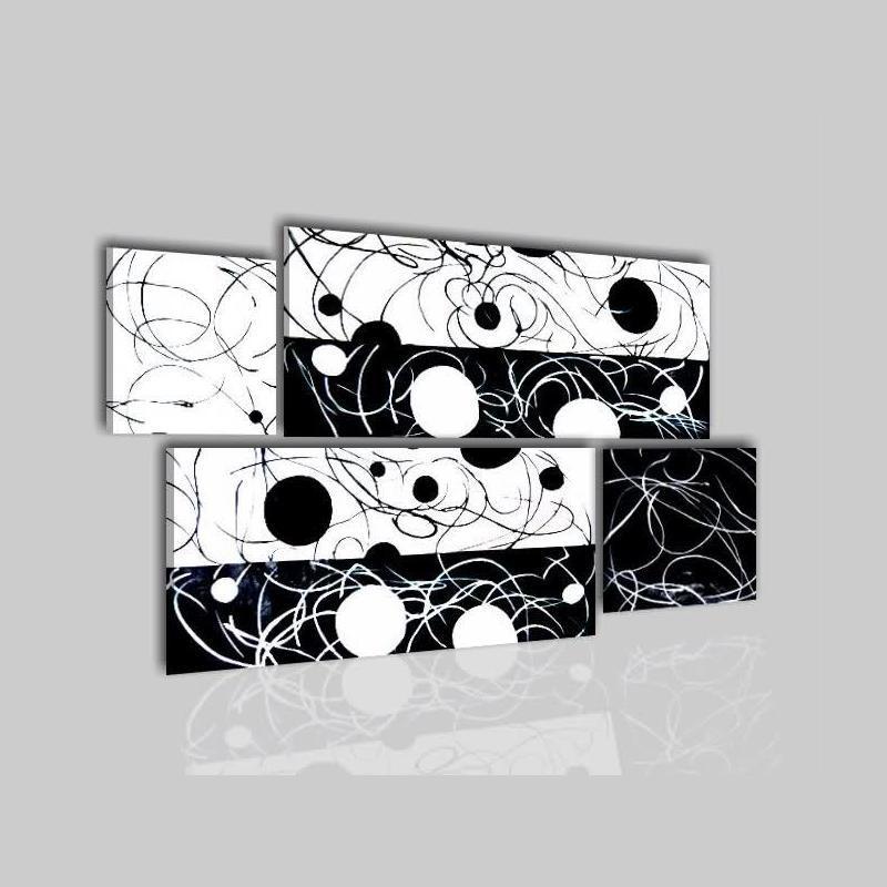 Cuadros modernos blanco y negro listo para colgar reby - Cuadro blanco y negro ...