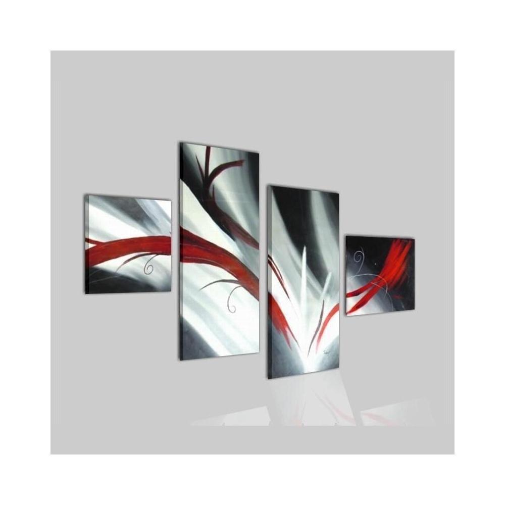 Quadri astratti dipinti a mano per arredi dinamici e alla for Quadri moderni dipinti su tela