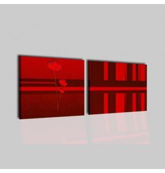 SOFA' - Quadri astratti a due pannelli