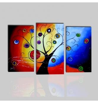 ALBERO COLORATO - Colorful triptych