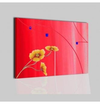 CAMPUS - Dipintii astratti rosso con fiori