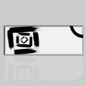 SKIPY - Quadro moderno bianco e nero