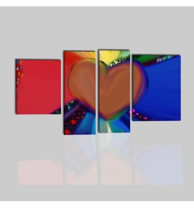 LOVE - Quadro con cuore