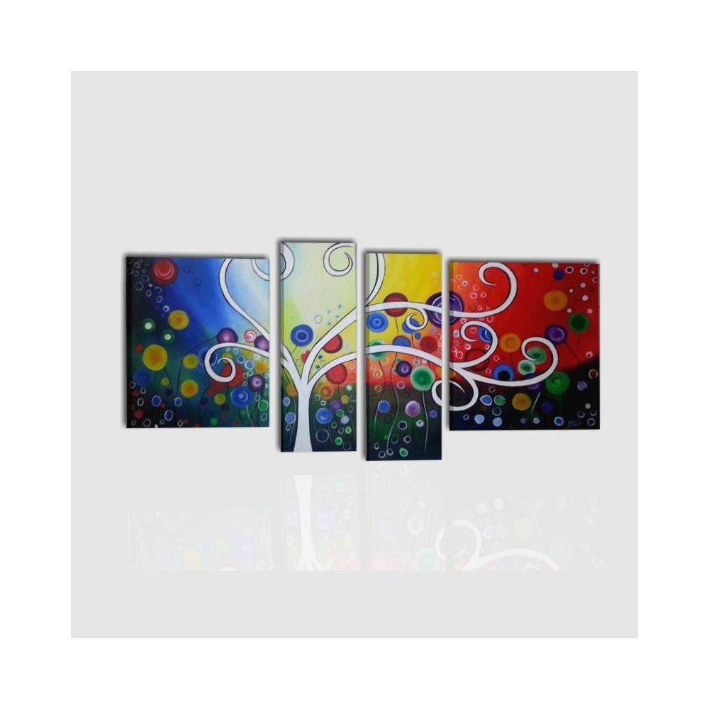 Composizione di quadri moderni colorati
