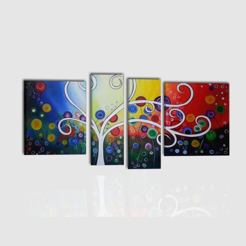 Composizione di quadri moderni colorati for Quadri moderni colorati