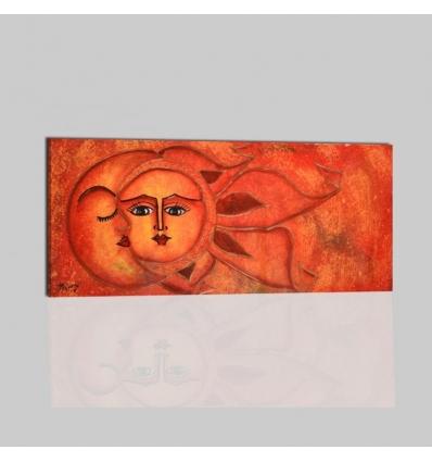 SOLE LUNA 4 - Dipinto etnico