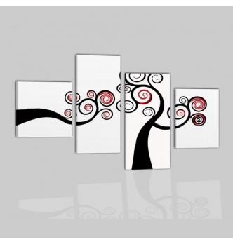 ACILIA 3 - Dipinti astratti in bianco e nero