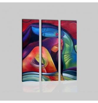 SILENE - quadro moderno tre pannelli