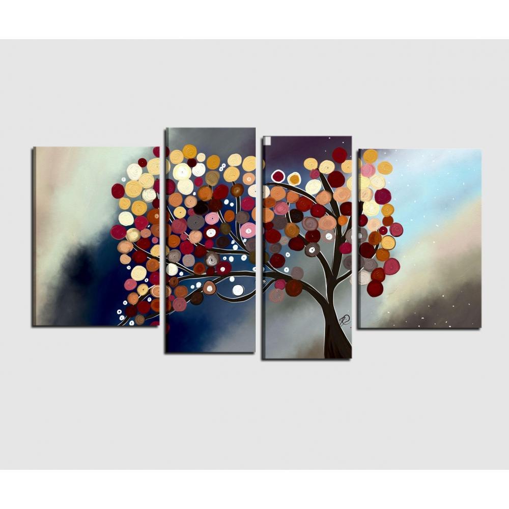 Quadri Moderni Su Tela : Quadri moderni con dipinto un albero stilizzato halia