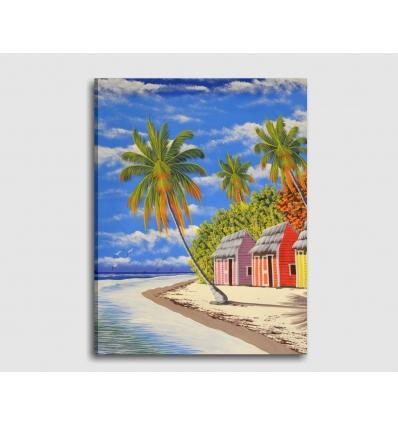 PAESAGGIO MARINO 2 - Quadro moderno spiaggia dei Caraibi
