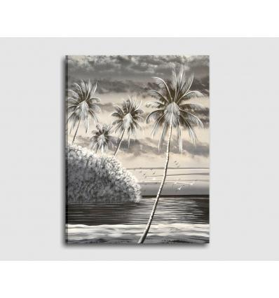 PAESAGGIO MARINO 3 - Quadri moderni fatti a mano spiaggia caraibica