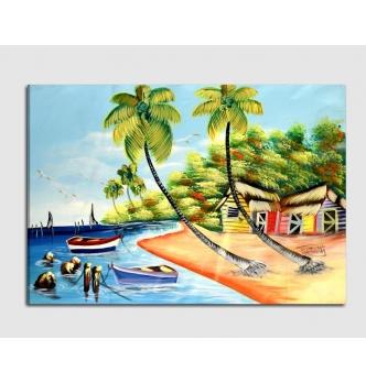 Quadro moderno dipinto a mano Paesaggio 7