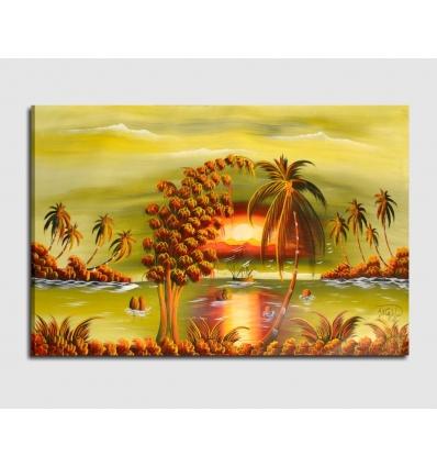 PAESAGGIO MARINO 2 - Quadri moderni fatti a mano spiaggia caraibica
