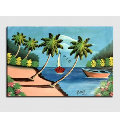 Paesaggio Marino 7 - Quadro moderno dipinto a mano