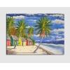 Quadro dipinto a mano Spiaggia dei Caraibi