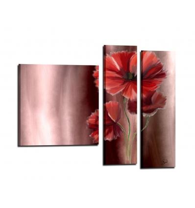 RAYAS - Quadro con fiori dipinto a mano