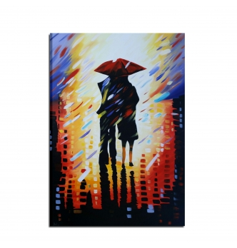LLUVIA - Modern painting rain