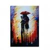 LLUVIA - Dipinto con coppia sotto la pioggia