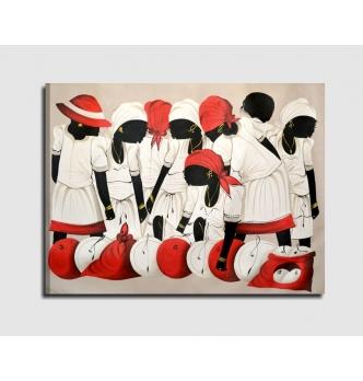 PEDERNALES - Quadro etnico dipinto a mano
