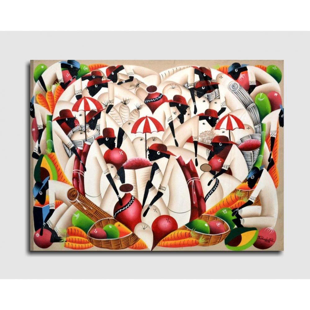 Quadri etnici dominicani dipinti a mano for Quadri verticali