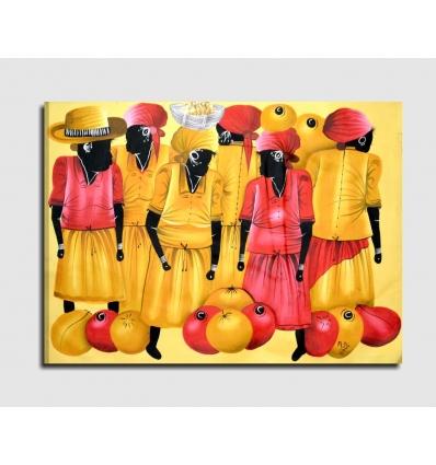 LARIMAR - Modern painting ethnic