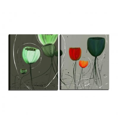 quadri moderni con fiori - Deon
