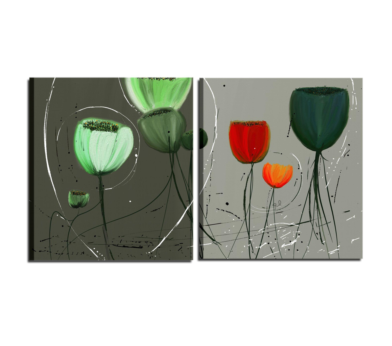 Hermosa composicion de cuadros modernos con flores deon - Composicion de cuadros ...