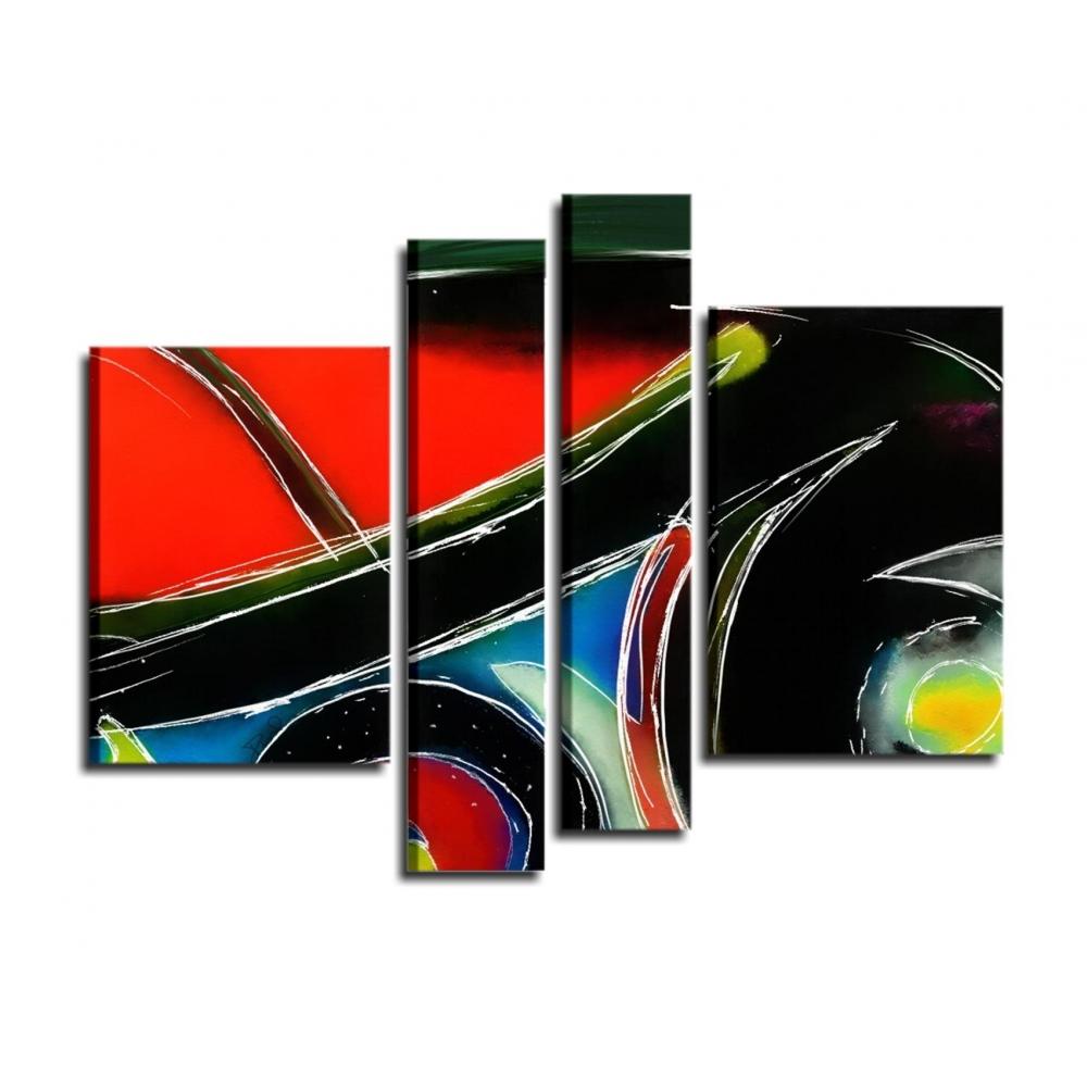 Fantastico quadro in stile astratto in rosso e nero i for Quadri astratti moderni verticali