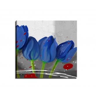 Quadri dipinti a mano in blu azzurro celeste - I Colori del Caribe