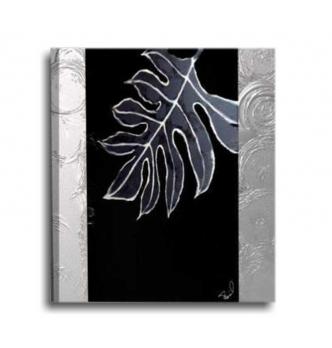 GEDEON - Quadro moderno con foglia nero