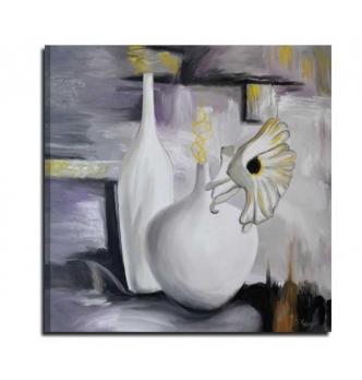 Cuadro moderno con florero - un rincón tranquilo