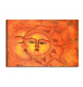 SOLE LUNA 6 - Quadri moderni il sole e la luna