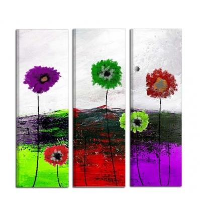 GARLY - Trittico con fiori