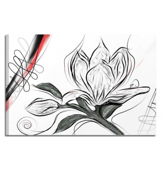 SIBILIA - Cuadros modernos pintados a mano blanco y negro