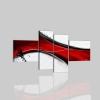 BRAMANTE - Quadri astratti bianco e rosso
