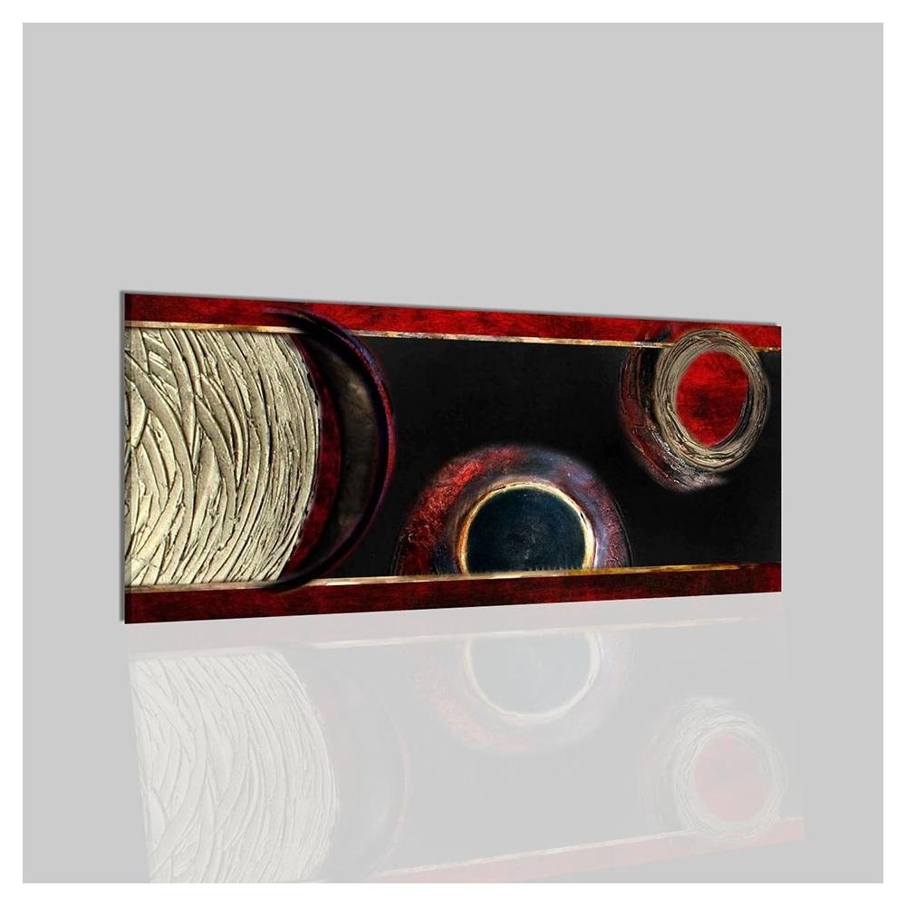 Quadri astratti materici rosso e nero